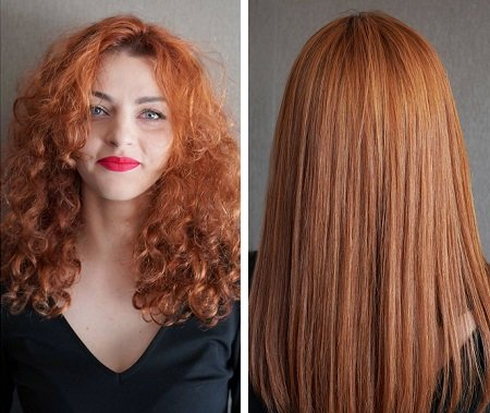 nanokeratin before after smoothing treatment East Putney Hair Salon SW London
